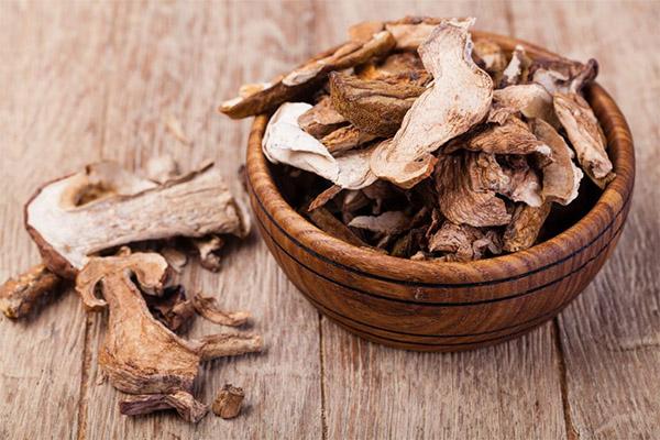 Польза сушеных белых грибов