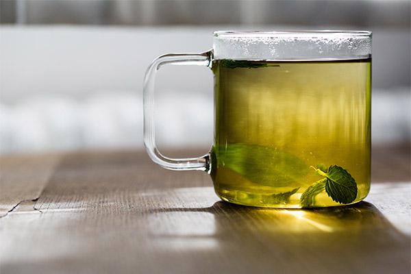 Зеленый чай с мятой или мелиссой