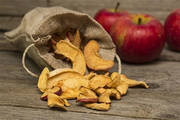 Как и где хранить сушеные яблоки