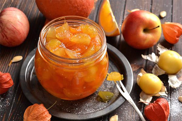 Варенье из физалиса с яблоком и грушей