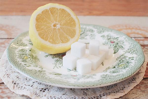 Чем полезен лимон с сахаром