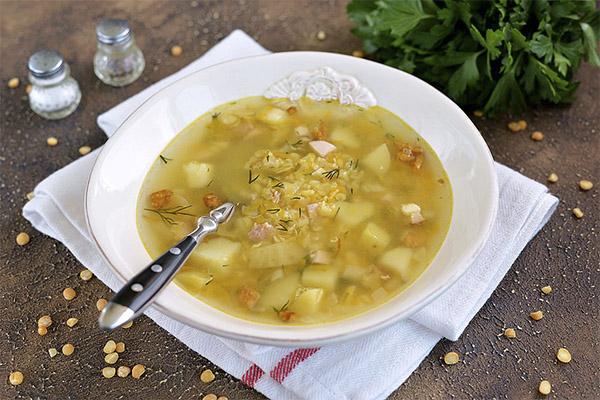 Гороховый суп в медицине