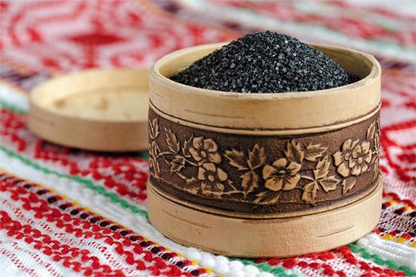 Польза черной соли из Костромы