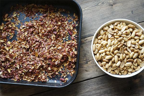 Польза шелухи от арахиса