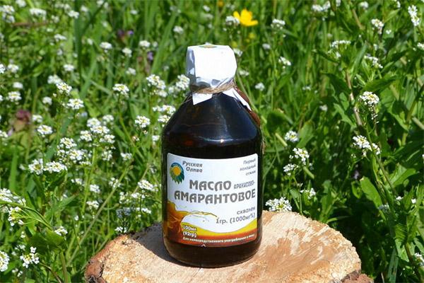 Амарантовое масло в медицине