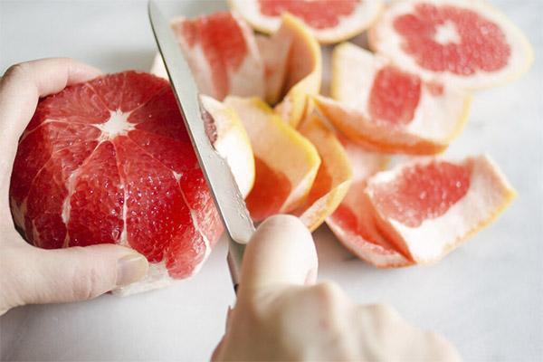 Как почистить и нарезать грейпфрут