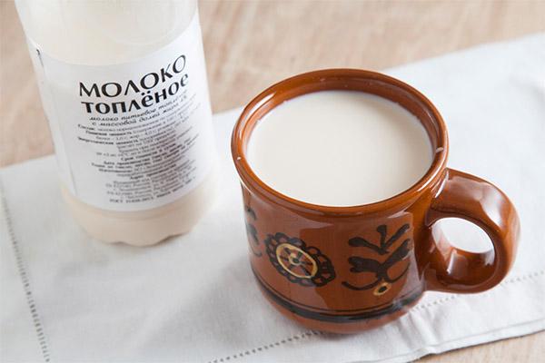 Польза и вред топленого молока
