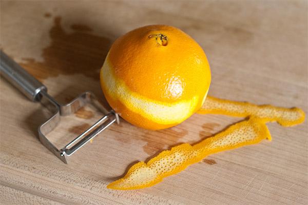 Как снять цедру с апельсина