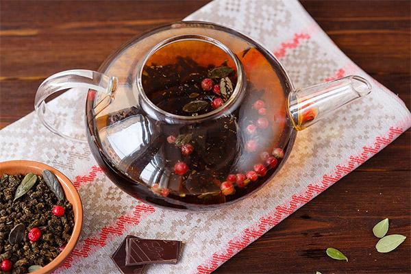 Рецепты приготовления брусничного чая