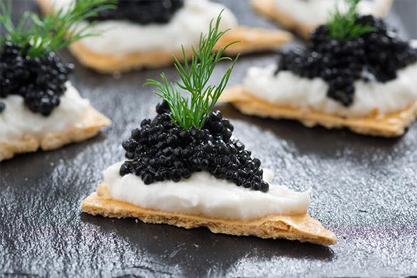 Рецепты блюд с черной икрой
