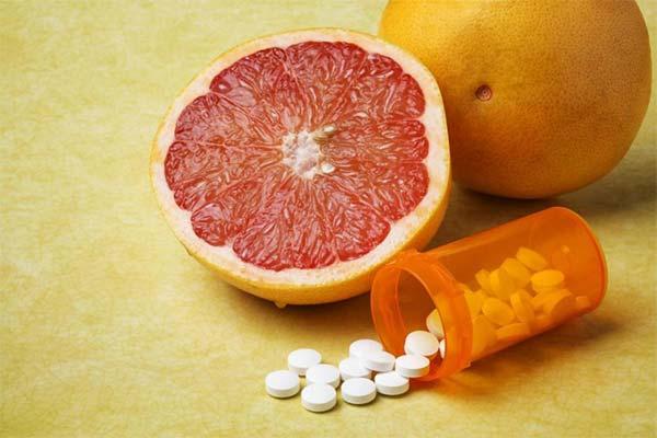 Какой может принести вред сочетание таблеток с грейпфрутом